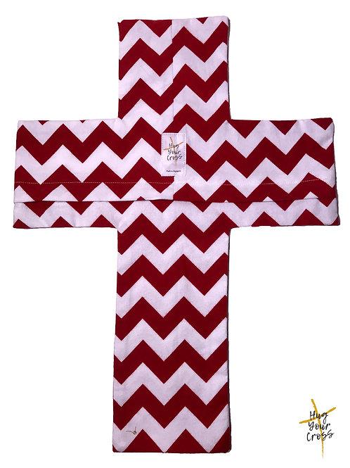 Red White Velvet Zac Pillow Cover