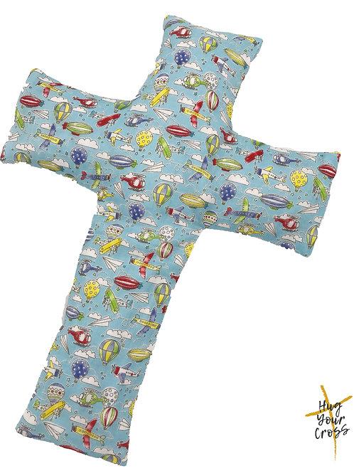 My Little Airport Cross Pillow