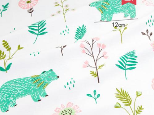 Forestry Bear Minky Blanket