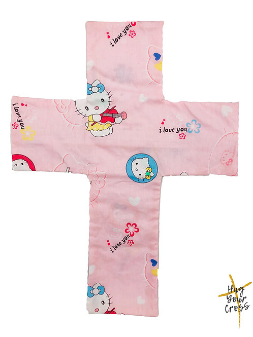 My Vintage Hello Kitty Cross Pillow Cover