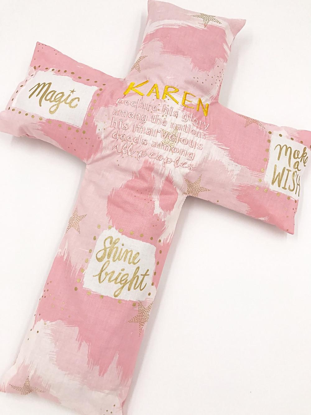 Karen bean sprout husk cross pillow