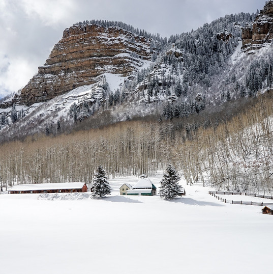 Snow covered farm. PC Duffy Brook on Unsplash.