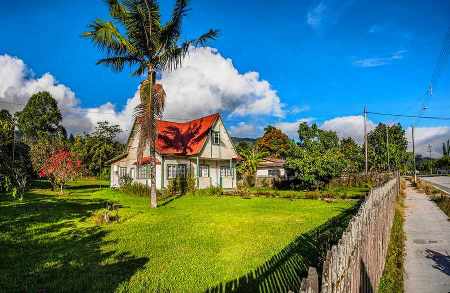 Traditional German style house in the jungle.