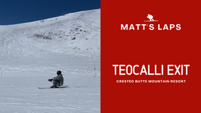 Skiing Teocalli Exit at Crested Butte Mountain Resort