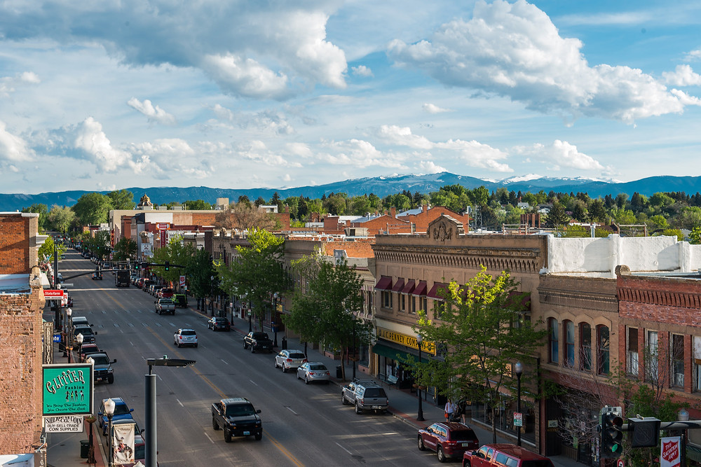 Old downtown area of Sheridan, Wyoming.