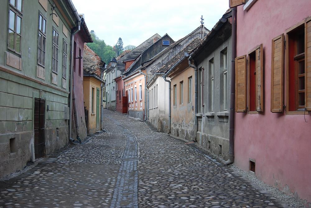 Empty historic street