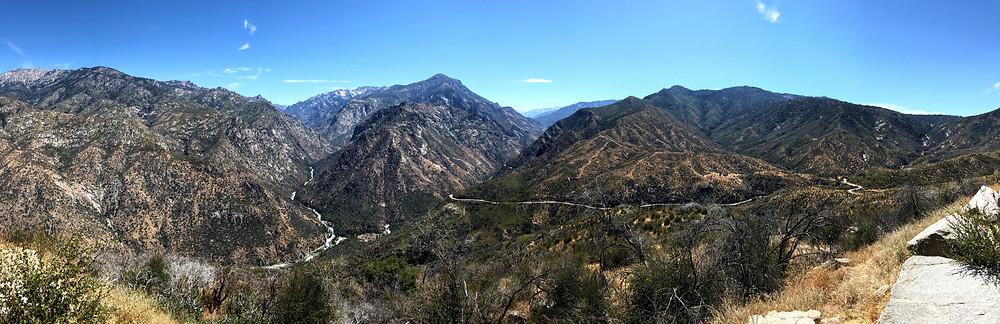 Panorama of Kings Canyon National Park