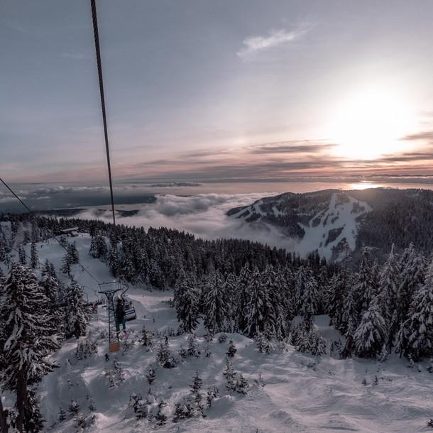 Ski resert in mountains
