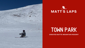 Skiing Town Park at Crested Butte Mountain Resort