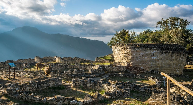 Stone ruins in mountains