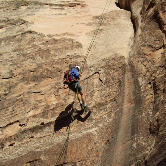 Luke Rappeling in Capitol Reef
