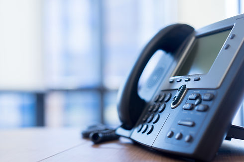 close up soft focus on VOIP telephone fo