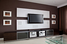 Modern Home Theater Room Interior with F