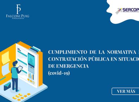 CUMPLIMIENTO DE LA NORMATIVA DE CONTRATACIÓN PÚBLICA EN SITUACIÓN DE EMERGENCIA (covid-19)