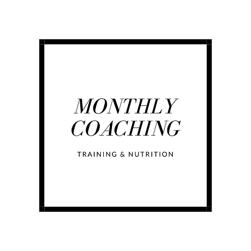 Monthly Coaching (Fitness Programming & Nutrition)