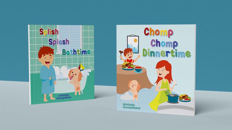 Slish slash bathtime and Chomp chomp Dinnertime