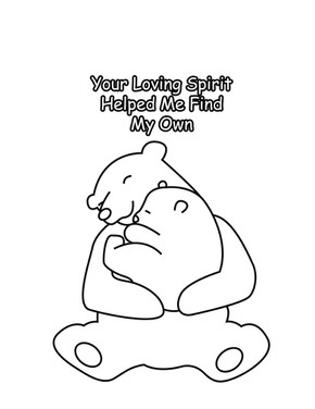 Mom Loving Spirit Mothers Day Coloring Page