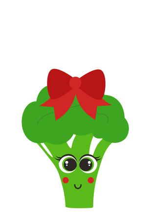Cute Green Girly Broccoli