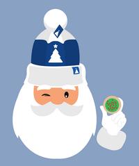 Cute Santa and Sugar Cookie