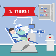 Oral Health Month social media post for a dental clinic