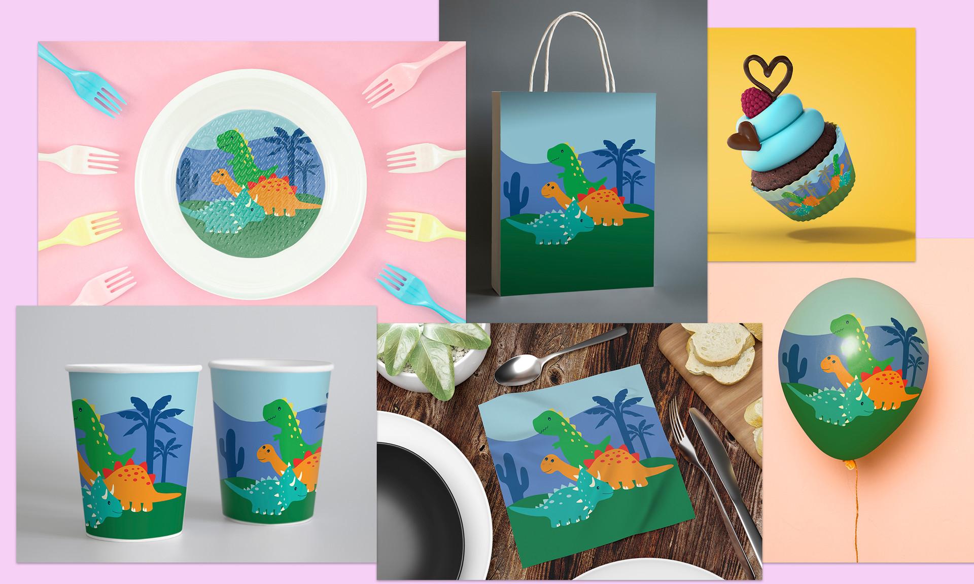 Cute dinosaur theme party supplies
