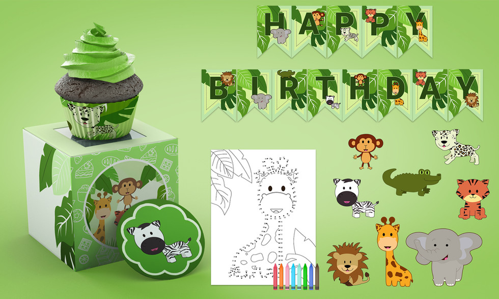 Party Ears jungle theme design for birthday supplies