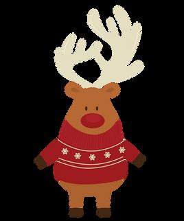 Christmas Reindeer Bear