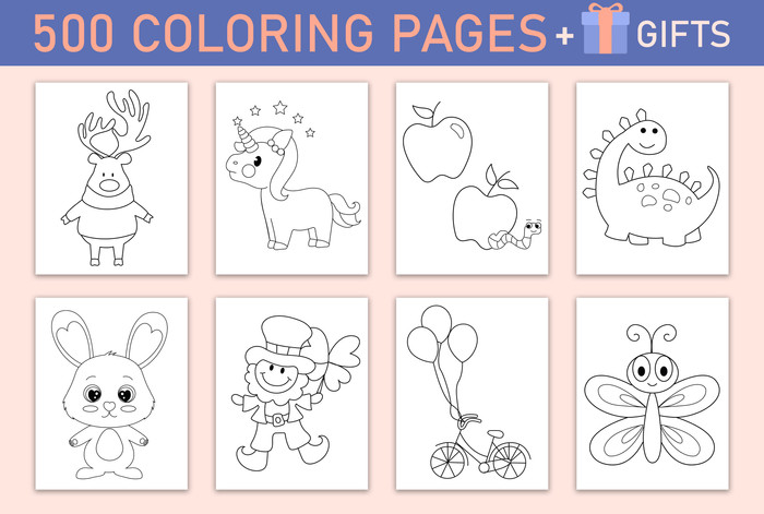 Coloring pages and Printable Gifts