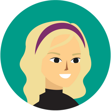 Woman avatar with a side view