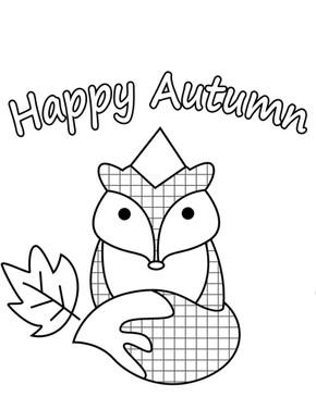 Little Fox Happy Autunm Fall begins
