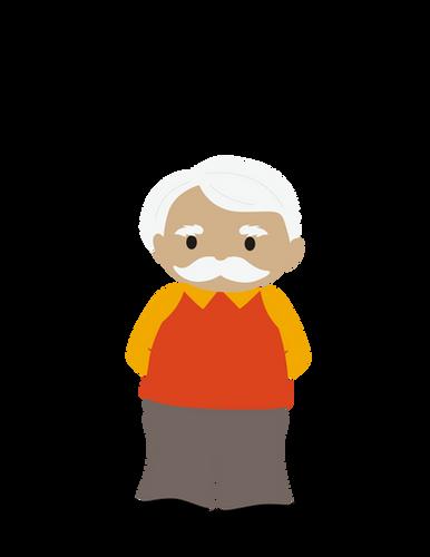Cute Caucasian old man