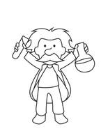 Albert Einstein coloring page