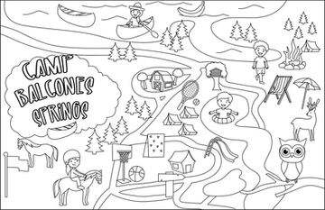Camp Balcones Springs camping map coloring page