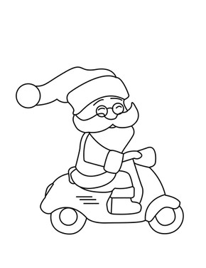 Santa Claus coming to you on his Scooter