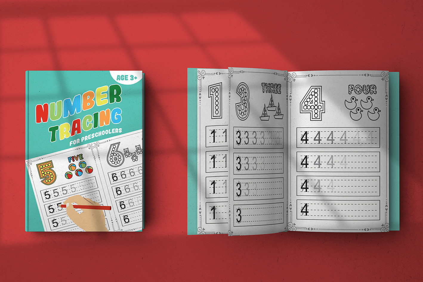 Number tracing notebook
