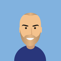 Man avatar with gradient colors