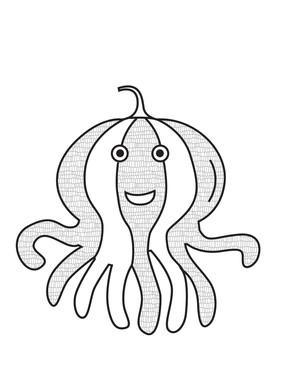 Nursery Octopus Pumpkin Thanksgiving