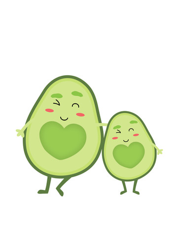 Mom and Baby Avocados