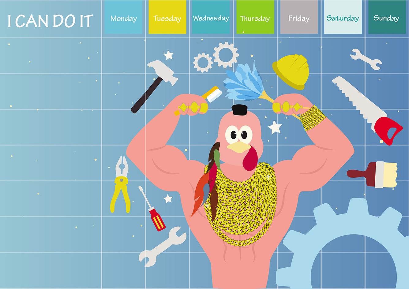 Baby activity calendar