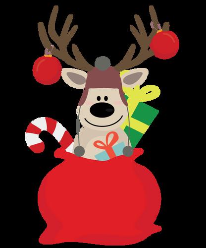 Surprised Reindeer Gift bag