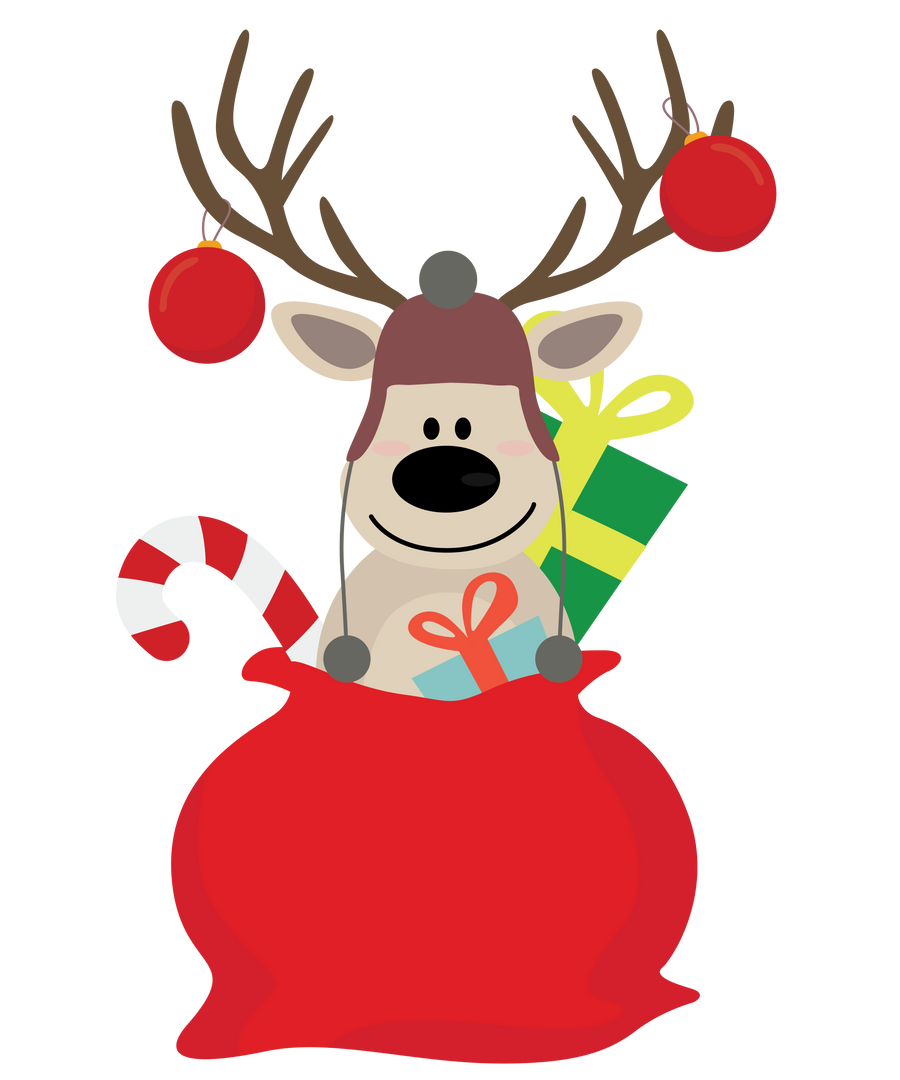 Surprised Reindeer Gift bag