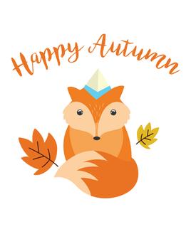 Happy Autumn Fox