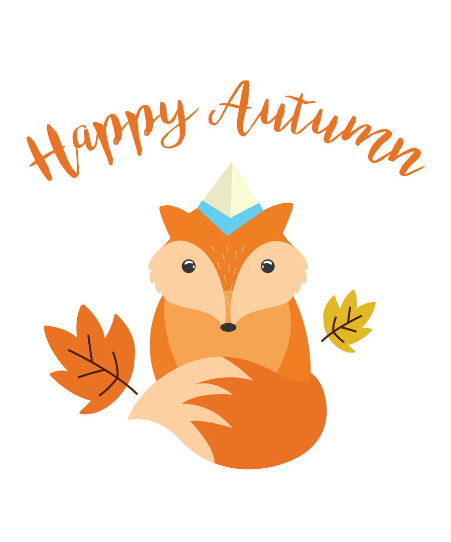 Happy Autumn Fox