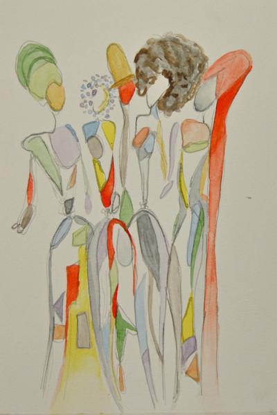 Inspirerad av artisten Erykah Badu och hennes huvudbonader
