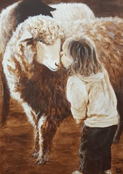 flickan och fåret