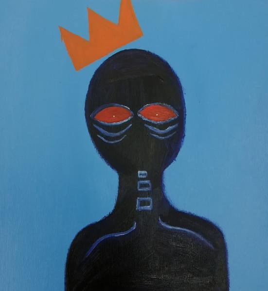 Inspirerad av Jean- Michel Basquiats konst