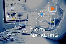 Concept of digital marketing media (webs