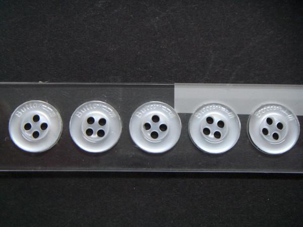 ボタン(釦)にレーザー刻印
