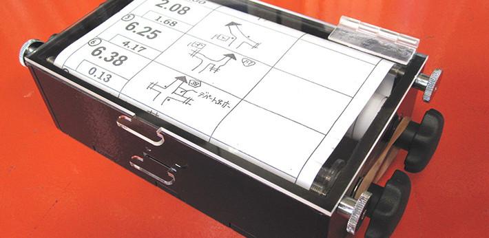 アクリル製コマ図ホルダー