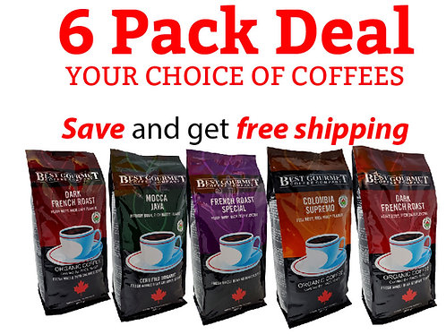 2 lb Organic 6 Pack - Your Choice